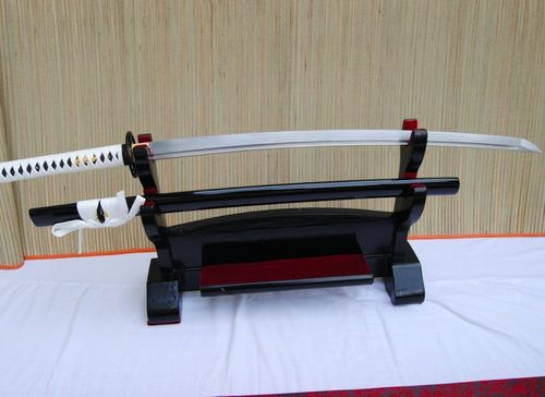 Gefaltetes Damaszener Samurai Schwert Black and White Katana